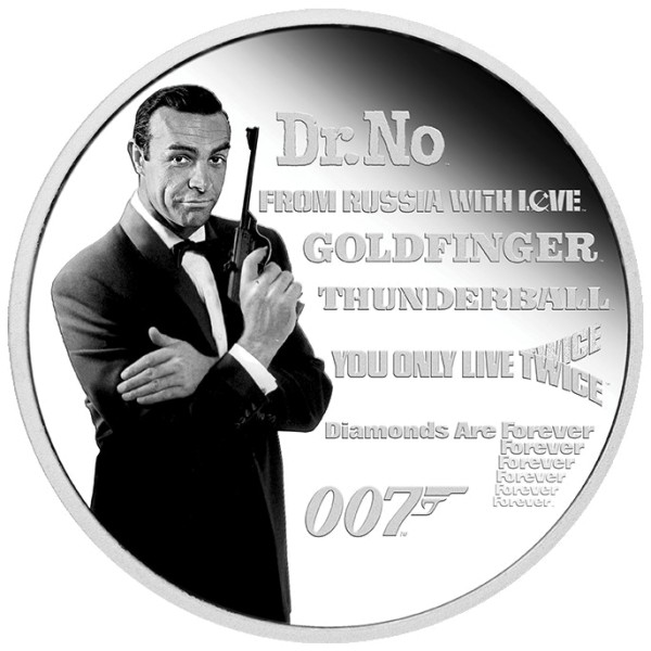 James Bond Silbermünze