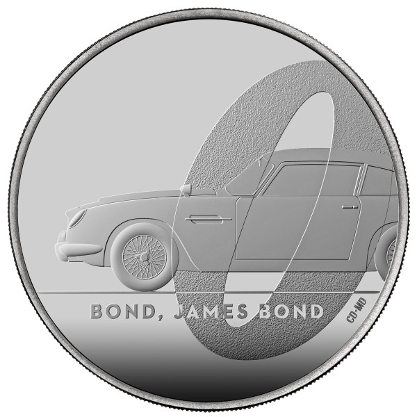 James Bond 2020 UK £5 Unzirkulierte Münze